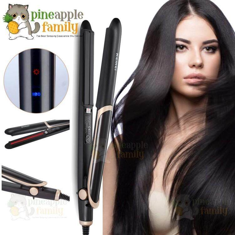 802def9c301 Stella 2 in 1 Far-infrared Hair Straightener Flat Iron Curl Hair Curling  Iron Professional
