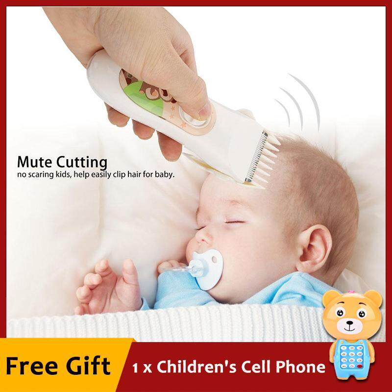 [free Gift] Sunflower Baby Infant Electric Hair Clipper Quiet Usb Rechargeable Shaver Cutting Child Haircut By Sunflower564.