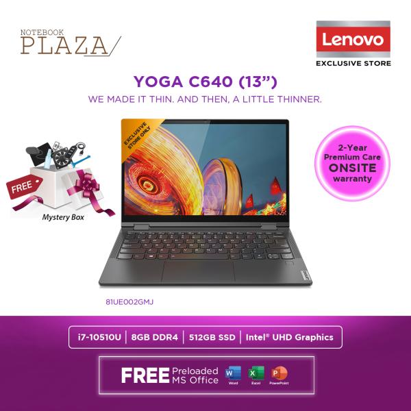 Lenovo Yoga C640-13IML 81UE002GMJ 13.3 FHD Touch Laptop Grey ( i7-10510U, 8GB, 512GB, Intel, W10, H&S ) Malaysia