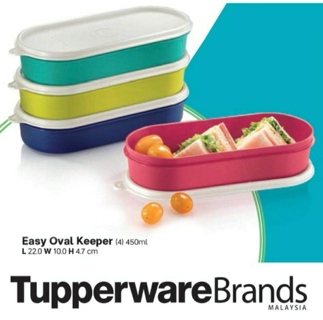 Tupperware Easy Oval Keeper 450ml(4 Pcs)