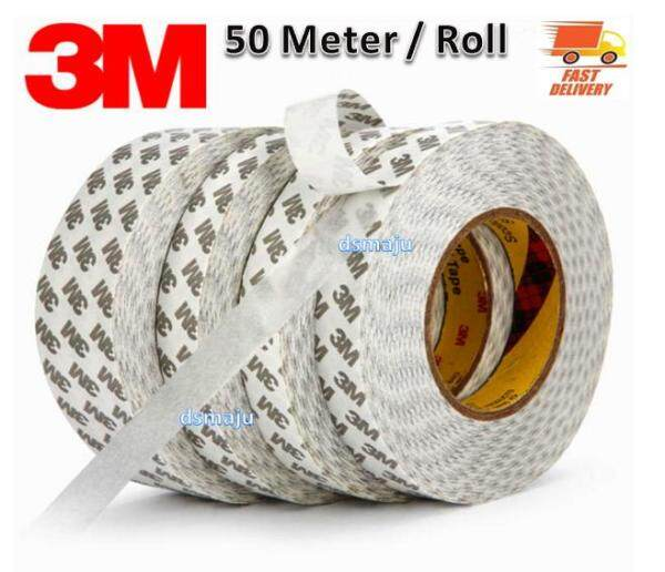3M Double Side Tape ( 50 Meter ) High Performance 9080A Ultra Thin Double Sided Tape Clear Adhesive
