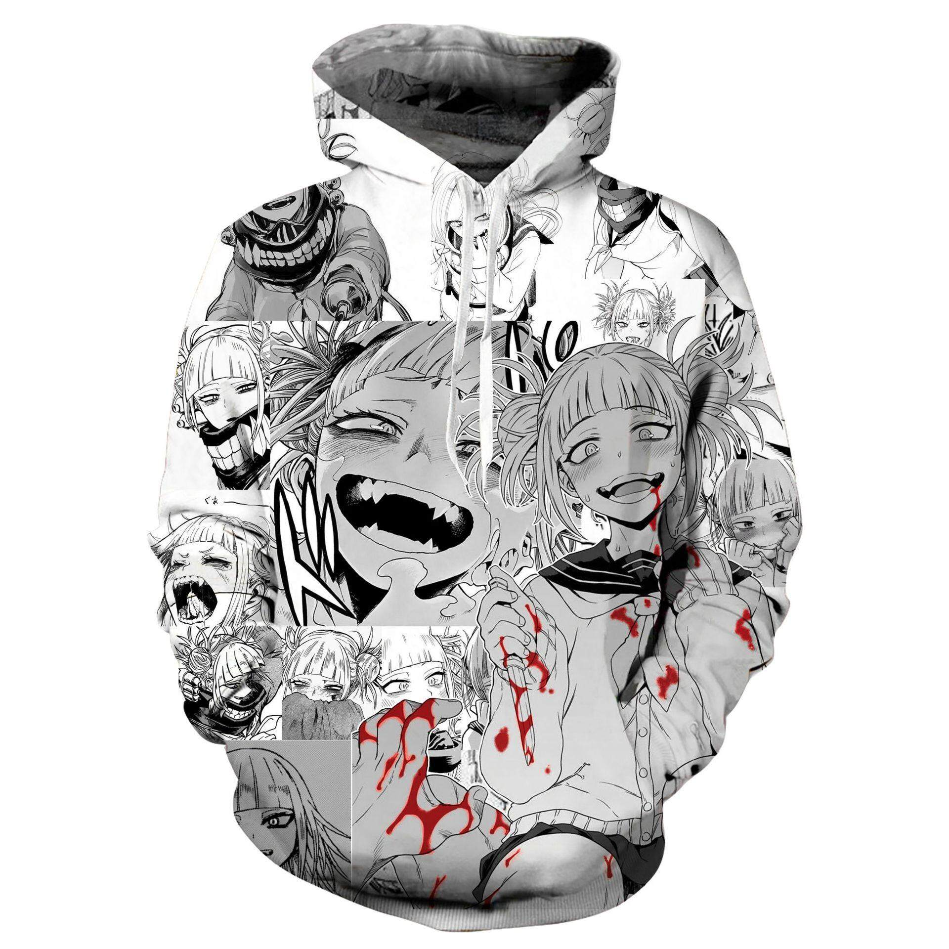 0bf60c57 3D Printed Hoodie Graphic Pullover Ahegao Hentai Japanese Anime Sweatshirts