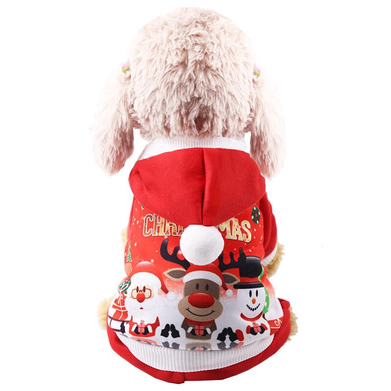 【Giảm Giá 50% 】 Quà Tặng Năm Mới ◑ Quần Áo Chó Giáng Sinh Quần Áo Quần Áo Cho Thú Cưng Mùa Thu Đông Nút Ấm Áp Tiền Hơn Gấu Teddy