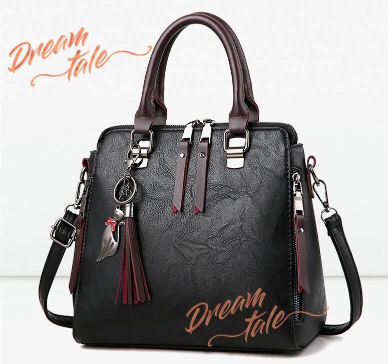 2665cea6c22f Dreamtale Women Handbag Korea Fashion Tassel FREE Cat Keychain Top Handle  Bag Shoulder Bag WFS085