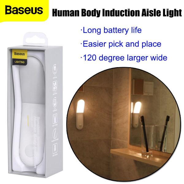 Baseus LED Induction Night Light Sunshine Series Human Body Induction Night Lamp Motion Sensor Aisle Light USB Rechargeable LED Light