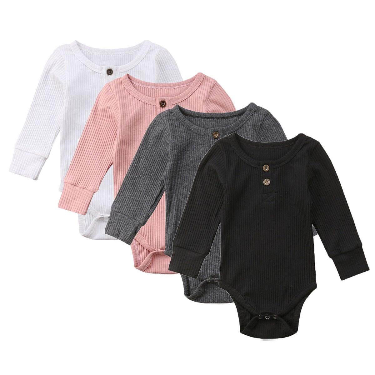 bb88b33d18f8 Infant Newborn Baby Boy Girl Long Jumpsuit Romper Bodysuit Cotton Clothes  Outfit