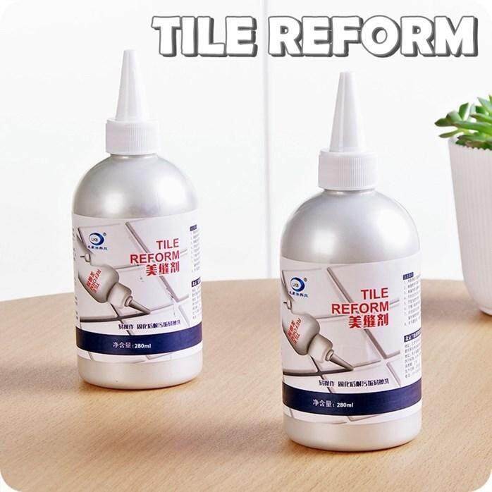 Tile Floor Reform Agent Waterproof Beauty line Liner Decor Repair Mosaic Grout Grouting Fix Fill Hole Gap Crack Flooring Home Shower Bathroom Kitchen Sink Bath Tub DIY Tools Kits Adhesive Accessories (Made in Korea) 1216