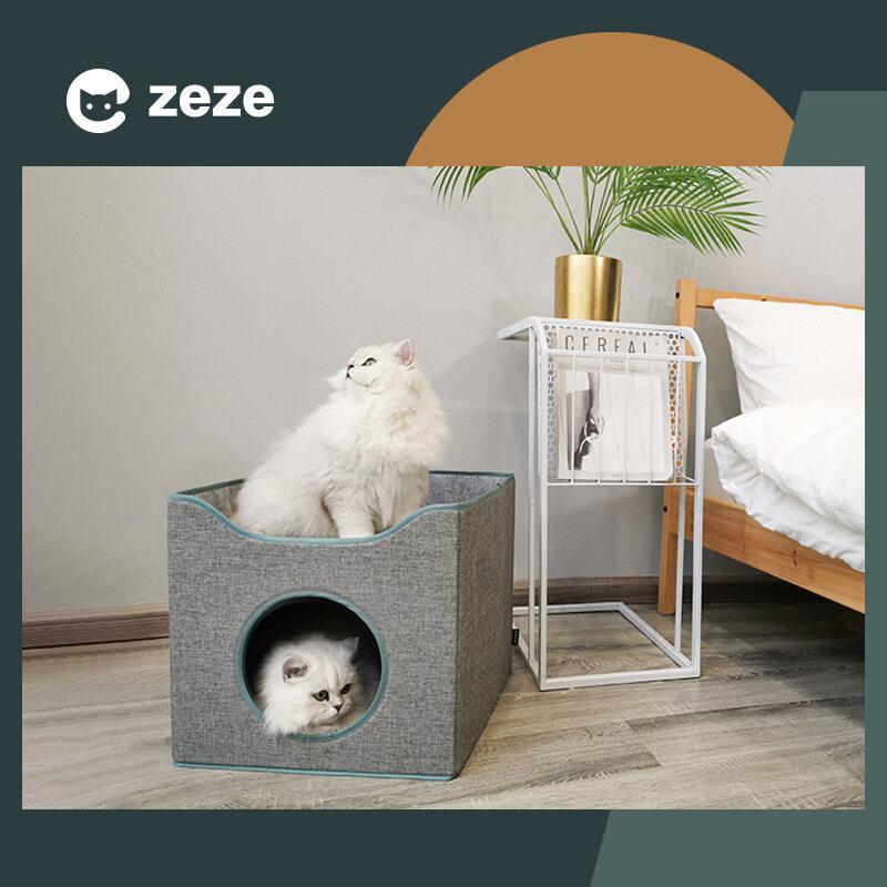 Mới Gấp Mùa Hè Lưu Trữ Ổ Mèo Đóng Siêu Di Động Tatami Nhà Cho Mèo Biệt Thự Giấc Ngủ Sâu Bốn Mùa Universal Pet Giường Nằm Cho Mèo Cưng Tầng