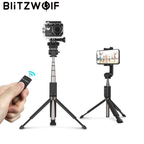BlitzWolf Chân Máy Cầm Tay Bluetooth Gậy Chụp Ảnh Tự Sướng Chân Máy Đơn Có Thể Mở Rộng Cho Gopro 5 6 7 1/4 Camera Thể Thao Cho Điện Thoại Thông Minh Huawei