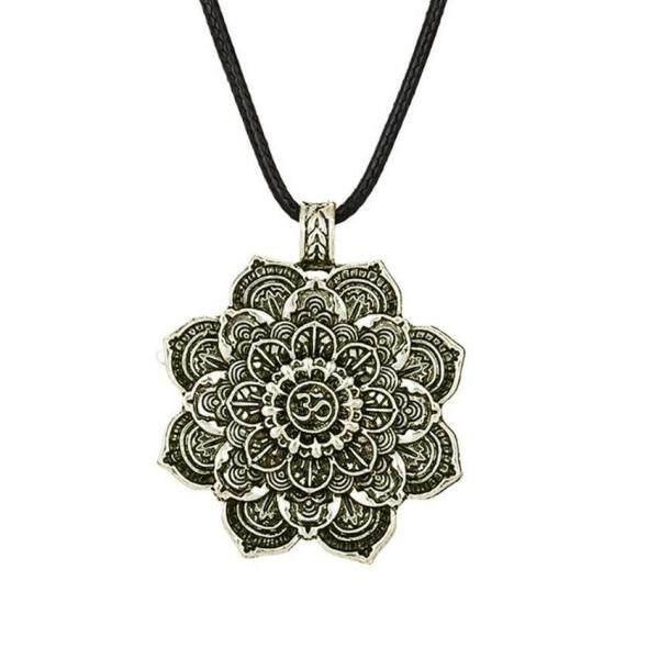 Thần thoại Ấn Độ OM Vòng Cổ Tây Tạng tinh thần Vòng Cổ 2 mặt mặt dây chuyền bùa hộ mệnh Tôn Giáo trang sức