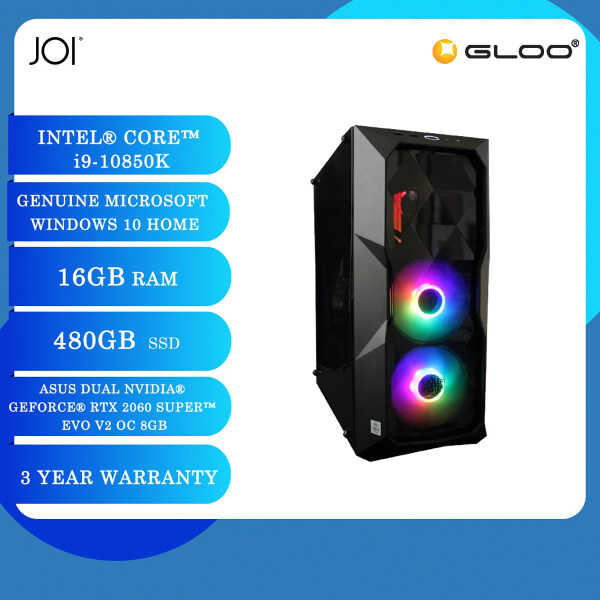 JOI PC 9100 (i9-10850K/16GB/480GB/RTX 2060S 8GB/W10H) Free Vinnfier Flipgear NEO FRESH 3 Multi-function Mini Sterilizer with Wireless Charging (Promotion from 1st Dec until 31st Dec) Malaysia