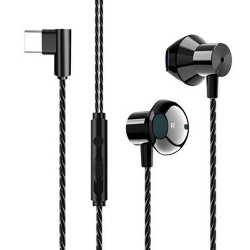 niceEshop Type C Earphones, Wired in-Ear Metal Earbuds with Mic Compatible for Google Pixel 3/2/XL, Huawei, Xiaomi Singapore