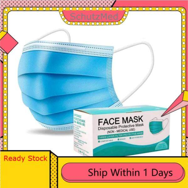 (50PCS) 3Ply Disposable Protective Face Mask
