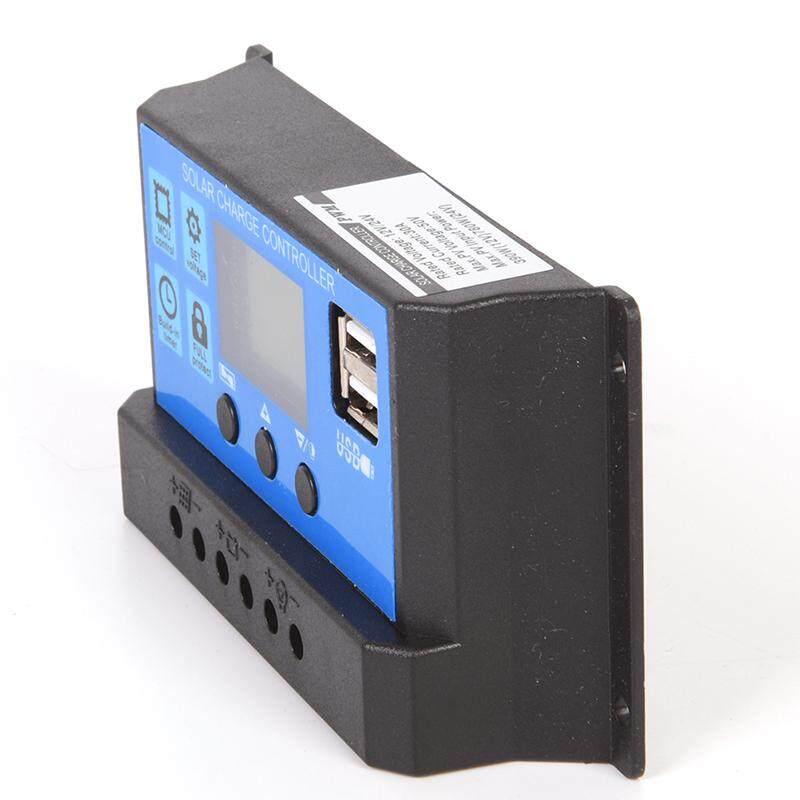 12 V/24 V tấm năng lượng mặt trời Bộ điều chỉnh Pin bộ điều khiển điện 30A PWM LCD