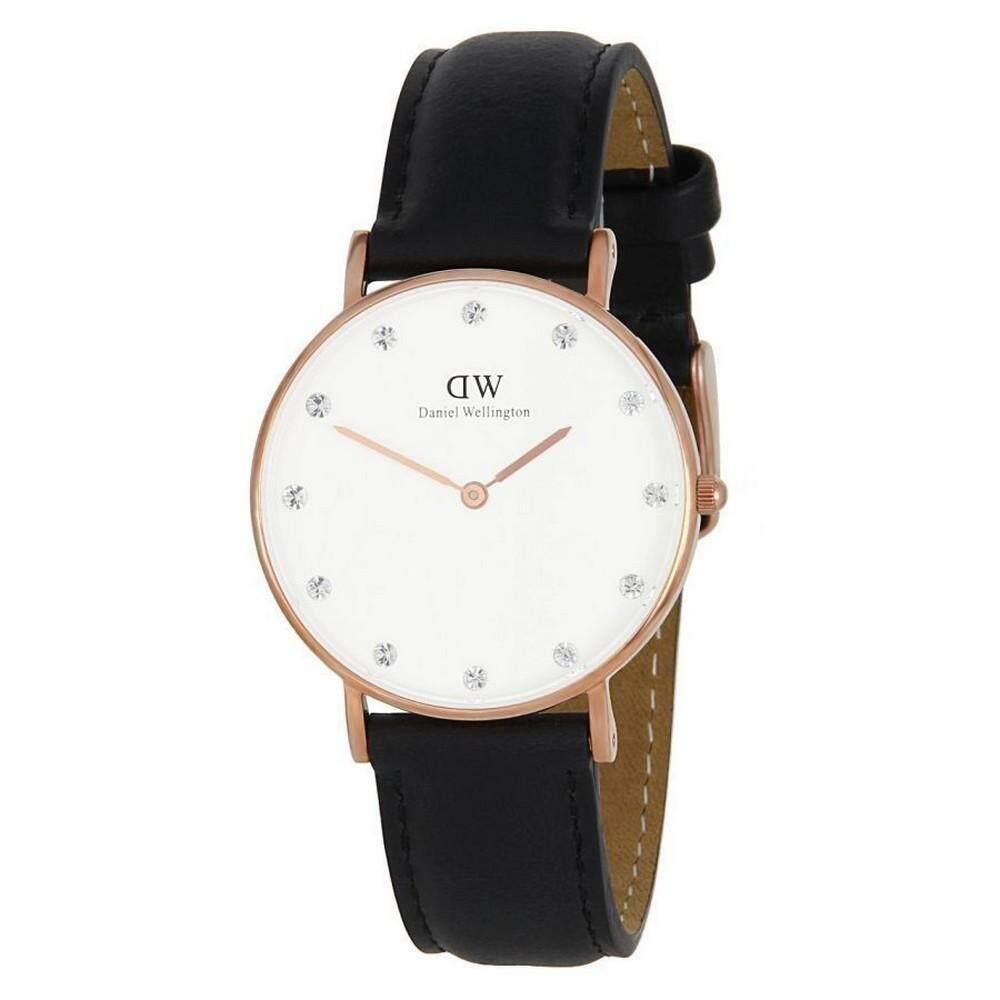 687a8199342f Pre Daniel 0951DW Classy Sheffield 34mm Women Watch - Rose Gold Case Black  Watch