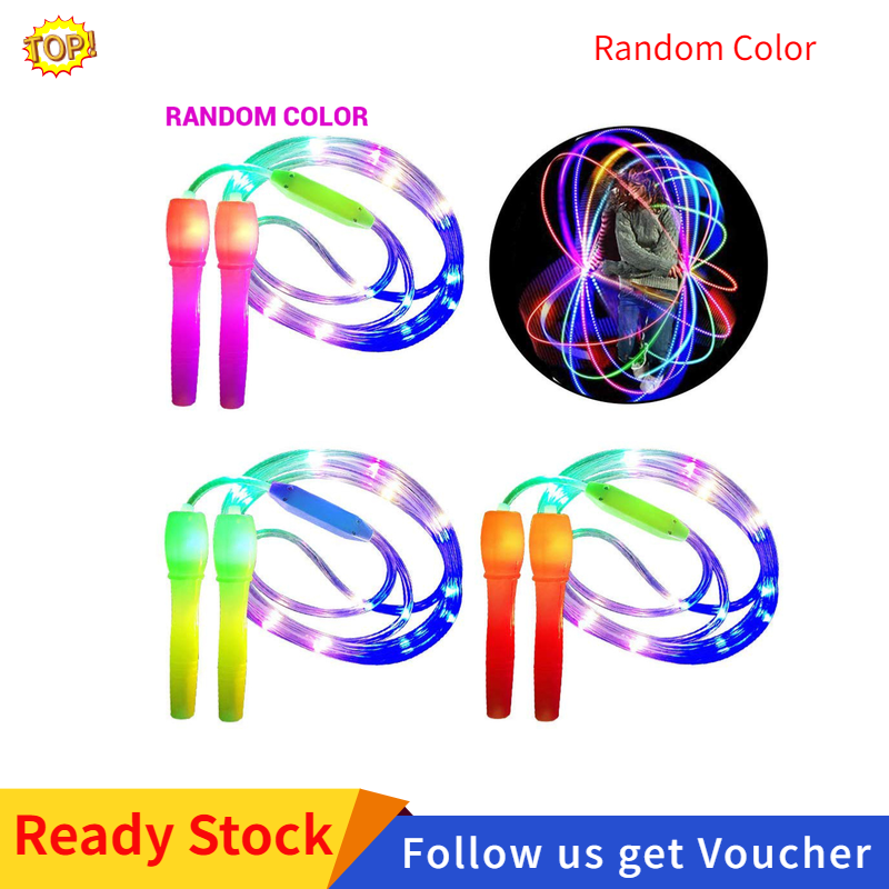 Glow in the Dark Skipping Rope Led Lights Fitness Skipping Rope Children Adults