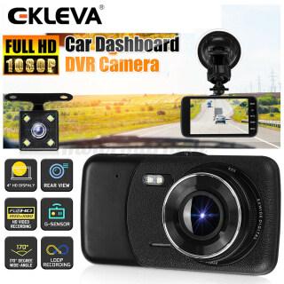 Ekleva Kép Dash Cams Cho Xe Ô Tô HD 1080P Phía Trước Và 720P Phía Sau Bên Trong Máy Ảnh 4 Màn Hình 170 Góc Rộng Máy Ghi Hình Bảng Điều Khiển Với Thiết Bị Quan Sát Ban Đêm Có Đèn Led G-Sensor, Ghi Lặp Lại, WDR, Chế Độ Đỗ Xe thumbnail