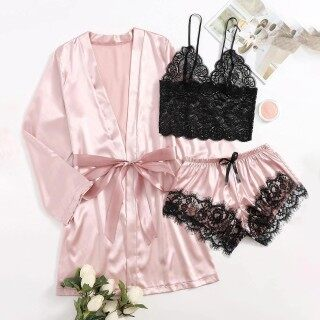 Khá Phụ Nữ Chất Liệu Lụa Satin Đồ Ngủ Váy Ngủ Cho Nữ Đồ Lót Robes Đồ Lót Đồ Ngủ Sexy Hàn Quốc Đồ Lót Quần Lót Đồ Lót Gợi Cảm Quyến Rũ Cho Phụ Nữ Bộ Áo Liền Quần Cỡ Lỡn Băng Ghế Dự Bị Bikini thumbnail