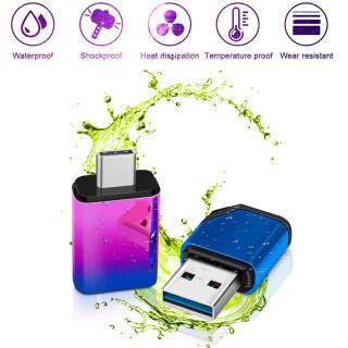 Burnelle 2 Cái USB 3.0 8GB 16GB 32GB 64GB 128GB USB Chuyển Màu 2 Trong 1 Ổ Đĩa Micro U Chống Nước Kim Loại Chéo Hiệu Quả Dung Lượng Lớn, Cho Chơi Game Giao Diện Điều Khiển Sản Phẩm Mỹ Rộng Và 0.9Mm B Là 54Mm Dài, 16Mm Dày thumbnail