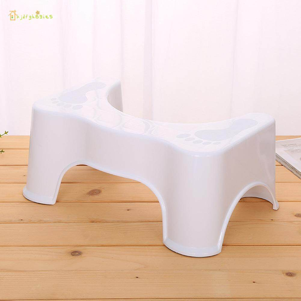 KJDF Plastic Stool Bathroom Hand Washing Stepping Footstool Baby Non-slip Toilet Stool