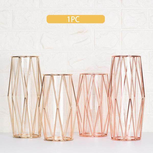 Desktop Transparent Nordic Style Luxurious Decoration Home Office Hydroponics Plants Glass Vase