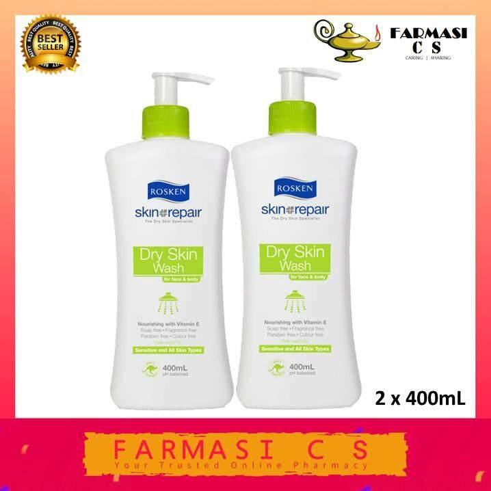 Rosken Skin Repair Dry Skin Wash 400ml X 2 (twin Pack) By Farmasi C S.