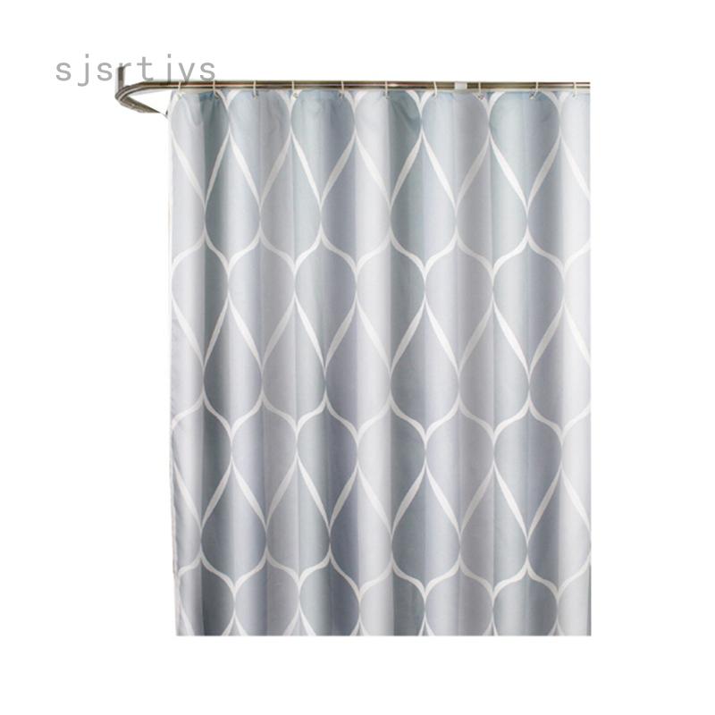 Rèm Phòng Tắm Chống Nước SJSRTJYS, Vải Polyester Dày, Đơn Giản