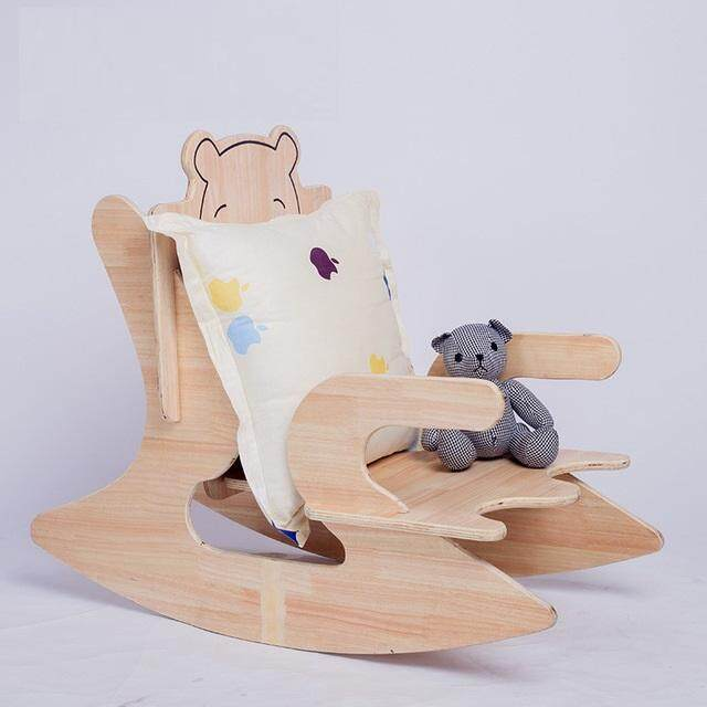 Cradle Children Rocking Chair Made of Wood No Sharp Corner Safe and Fun for Kids by Olive Al Home