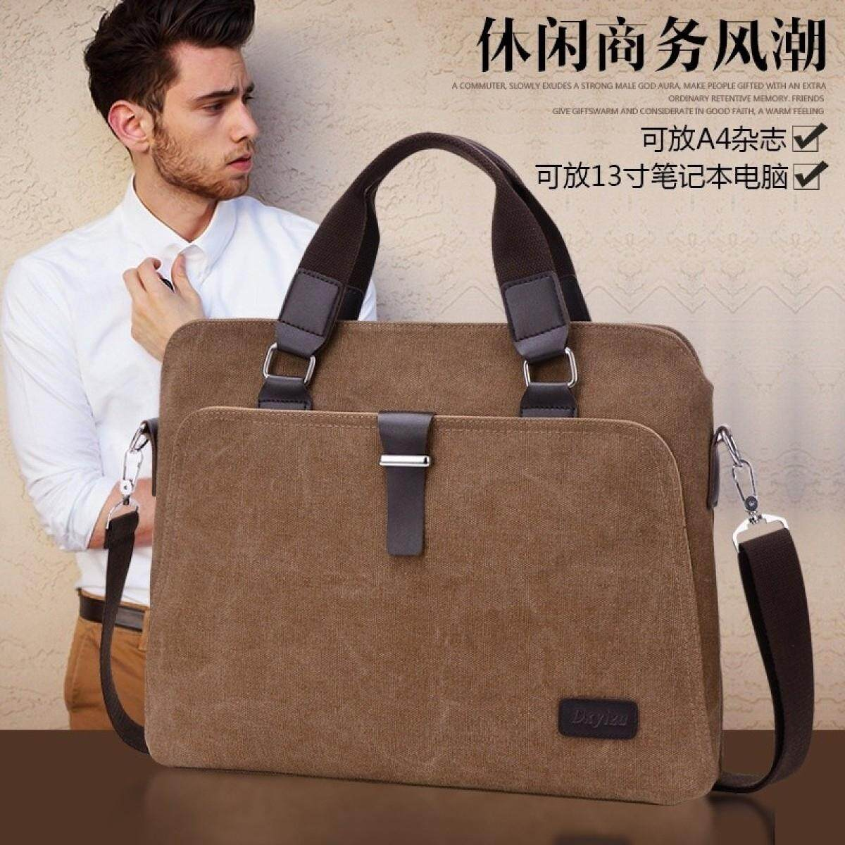 Vintage Crossbody Bag Military Canvas Shoulder Bags Men Messenger Bag Men Casual Handbag Tote Business Briefcase