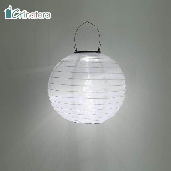 [Chinatera] Vải Đèn Lồng LED Năng Lượng Mặt Trời 10Inch Đèn Lồng Trung Quốc Đèn Treo Không Thấm Nước Chiếu Sáng Cảnh Quan Trang Trí Sân Vườn Ngoài Trời Sân Nhà