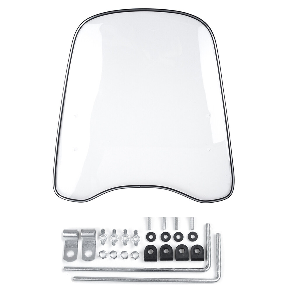 Baoblaze Windproof Clear Front Pc Windshield Protector Shield For Motorcycle Scooter.