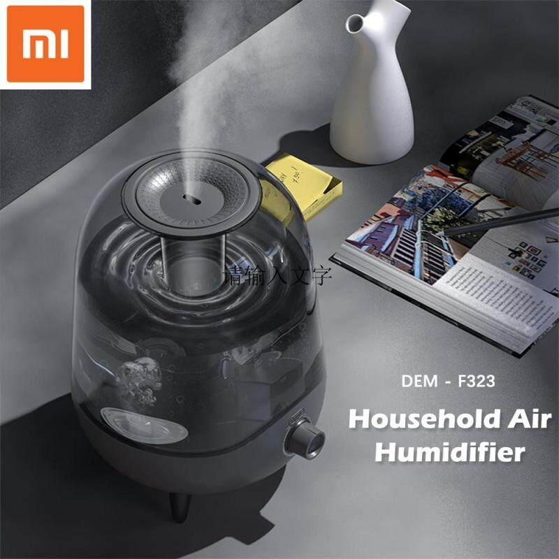 Original Deerma DEM-F323 25W Humidifier Large 5L Capacity Crystal Mute Mini Ultrasonic Air Humidifier Bedroom Living Room Dual Use Singapore