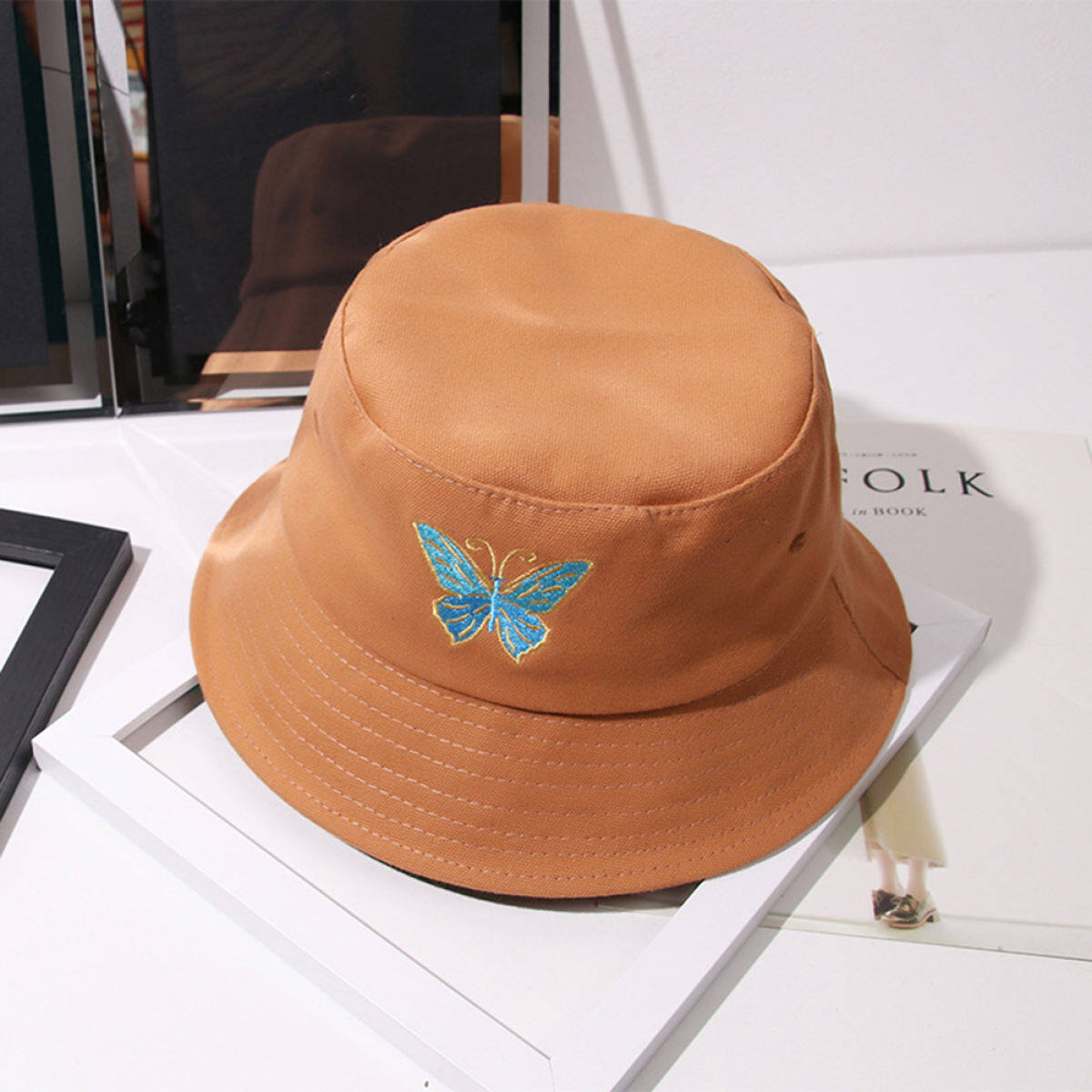 Pinfect Korean Fashion Retro Butterfly Printed Bucket Hat Women Men Summer Autumn Outdoor Travel Panama Fisherman Hip Hop Street Basin Caps Lazada