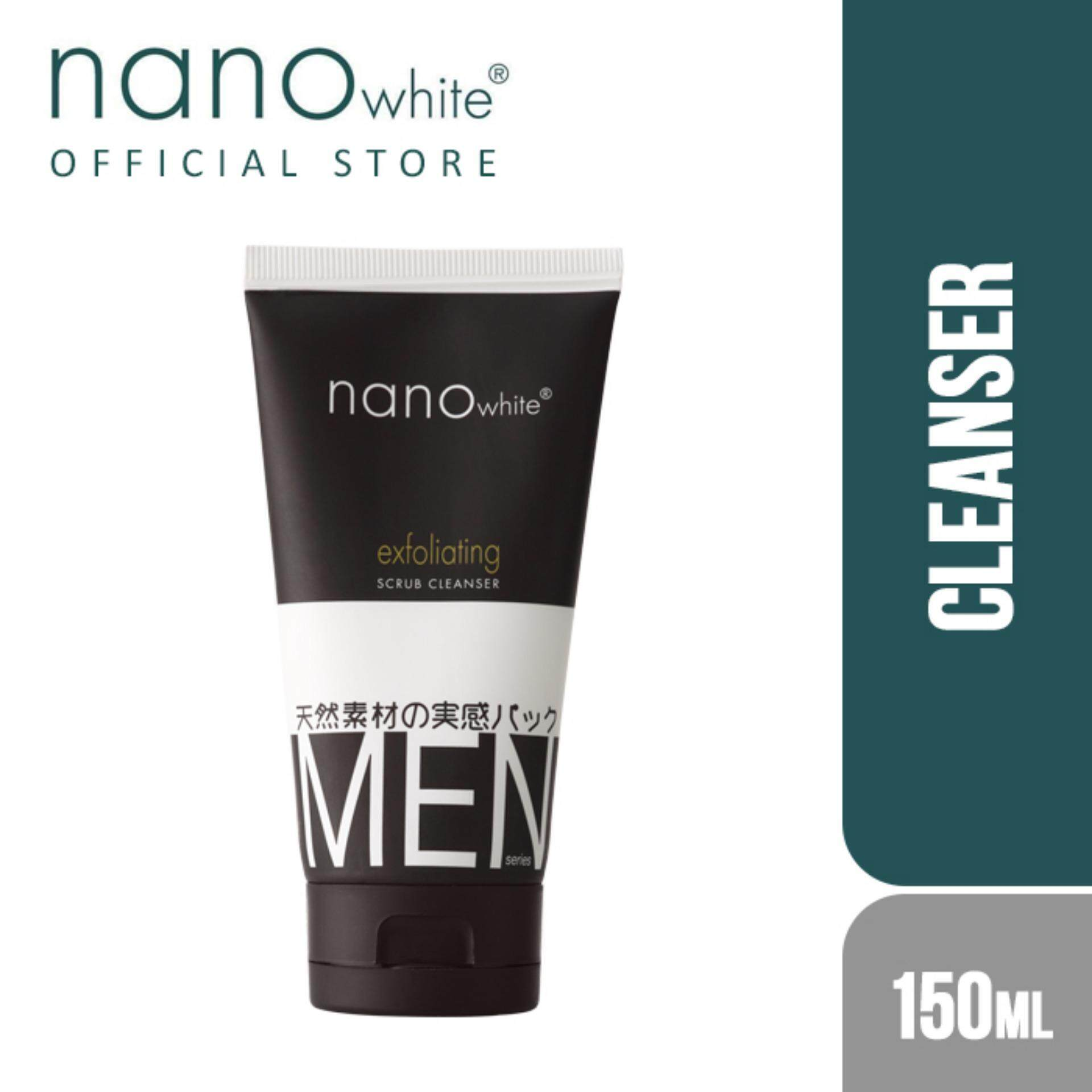 Nanowhite Men Exfoliating Scrub Cleanser (150ml) By Nanowhite Official Store.