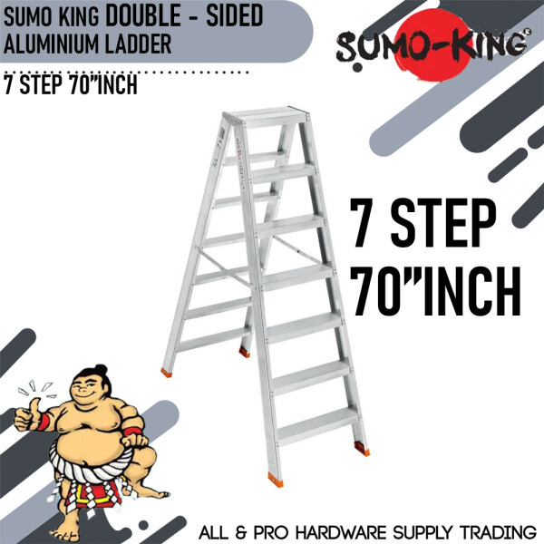 SUMO KING 7 STEP 70INCH DOUBLE SIDED LADDER