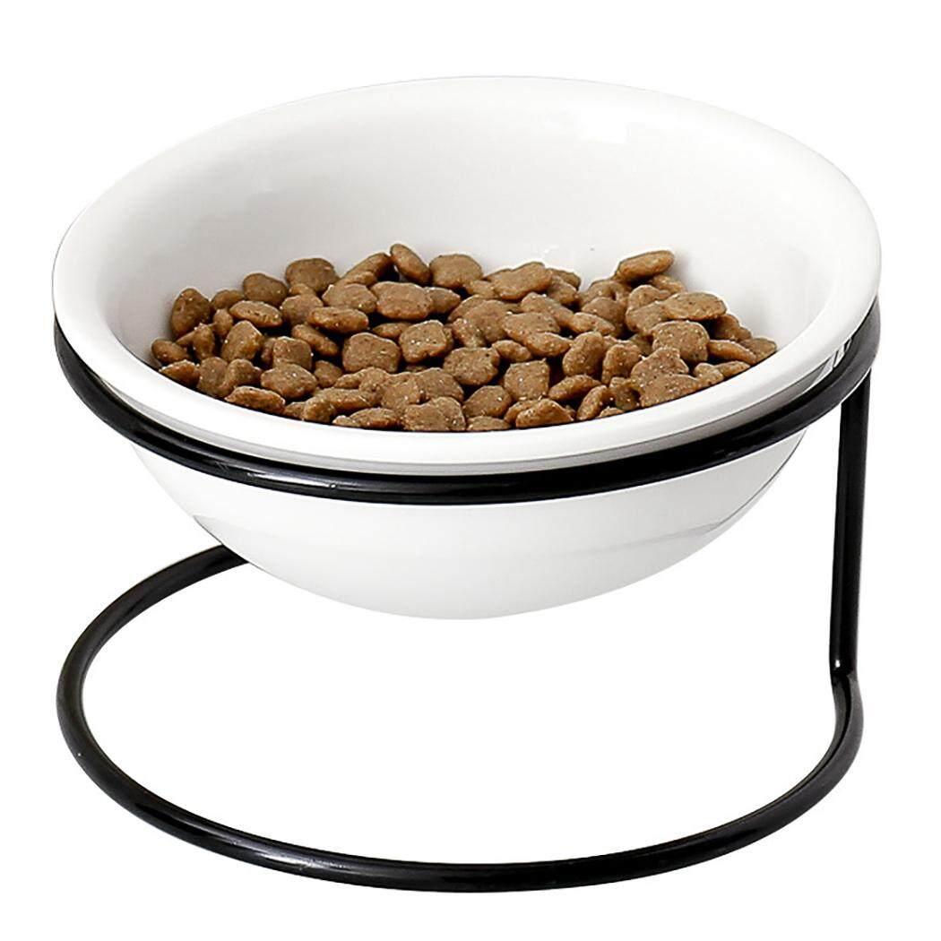 Chén Ăn cho thú cưng Bảo Vệ Cổ Gốm Thức Ăn Cho Thú Cưng Bộ Bát Ăn cho Mèo Con - 7
