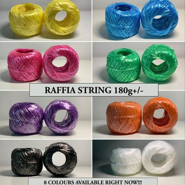 Raffia String / Plastic String / Rope / Tali Rafia Plastik - 180g (8 COLOUR AVAILABLE RIGHT NOW!!!)