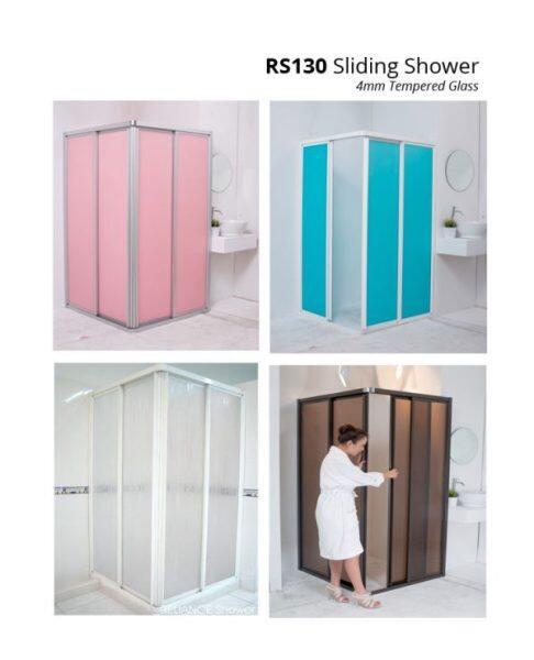 Shower Screen RS220 (Polystrene), RS220 Shower Screen, L-Shape Shower Screen, Shower Screen Bathroom