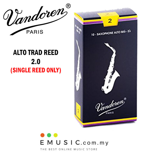 Vandoren Paris Traditional Alto Saxophone Reed 2.0 - Single Reed Malaysia