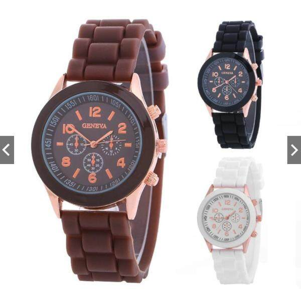 READY STOCK  GENEVA Fashion Casual Quartz Analog Women Watch Jam Tangan Malaysia