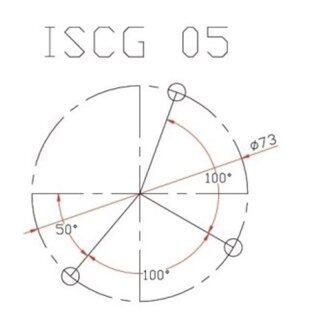 Fouriers Hướng Dẫn Sên Xe Đạp BB Adaptor Chuỗi Trục Giữa Yếm Bảo Vệ Chuyển Đổi ISCG ISCG05 Phù Hợp Với MRP Với Ốc Vít thumbnail