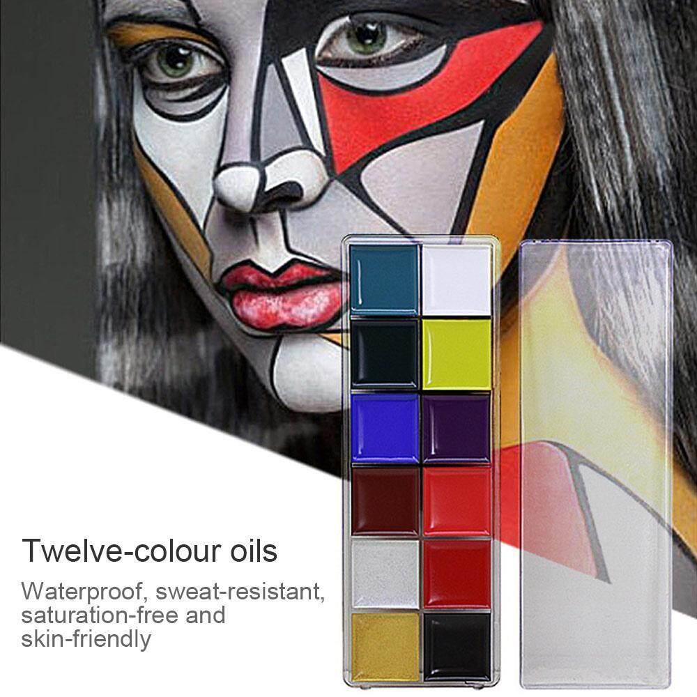 Bumblebaa 12 Color Strip Safe Non-toxic Easy to Clean Oil Color Body Painting / Halloween Make-up Fancy Beauty Makeup