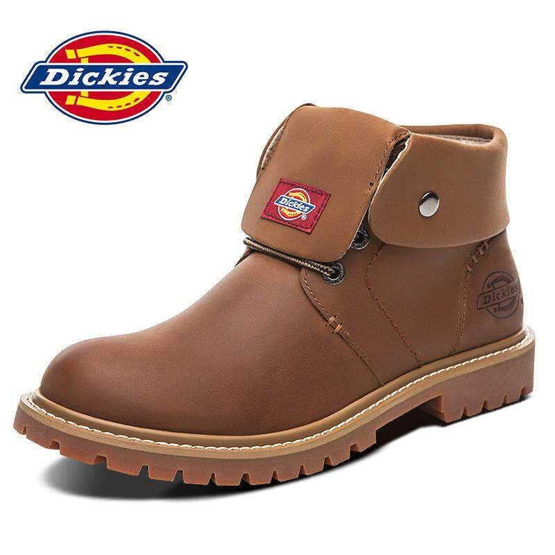 Dickies Men s Shoes Winter New Style Worker Boot Hight-top Leather Big Head  Leather Shoes 383b90b8ed