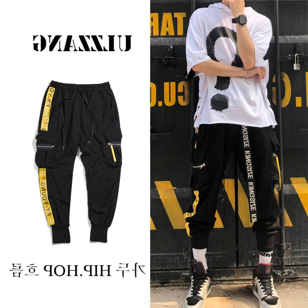 VENFLON Men Hiphop Golden Chain INS Chic Skinny Pant Cargo