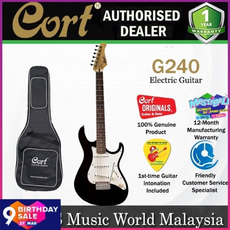 Cort G240 Double Cutaway Bolt On Basswood SSS Pickup Electric Guitar Metallic (G 240) Malaysia