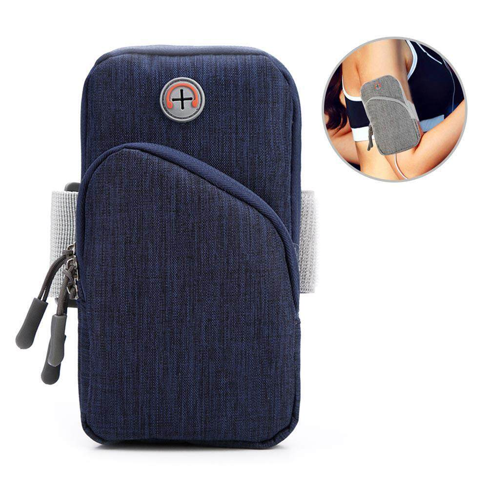 Top-Sky Smartphone Arm Bag Waterproof Sports Armband with Earphone Hole Multifunctional Pockets for iPhone