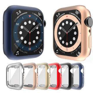 Linh Hoạt TPU Bìa Vỏ Bảo Vệ Màn Hình Cho Apple Watch Series 6 5 4 SE 40Mm 44Mm Matte Vỏ Màu Xanh Phụ Kiện Ốp Lưng Thông Minh Cho Apple Watch thumbnail