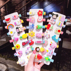 17 Dặm Thời Trang Hàn Quốc Đơn Giản Cầu Vồng Trái Cây Kẹp Tóc Cô Gái Kẹp Tóc Phụ Kiện Tóc