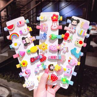 17 Dặm Thời Trang Hàn Quốc Đơn Giản Cầu Vồng Trái Cây Kẹp Tóc Cô Gái Kẹp Tóc Phụ Kiện Tóc thumbnail