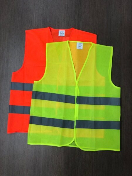 [READY STOCK] Reflective Security Safety Vest with Velcro Stick-On Pad Size 3XL